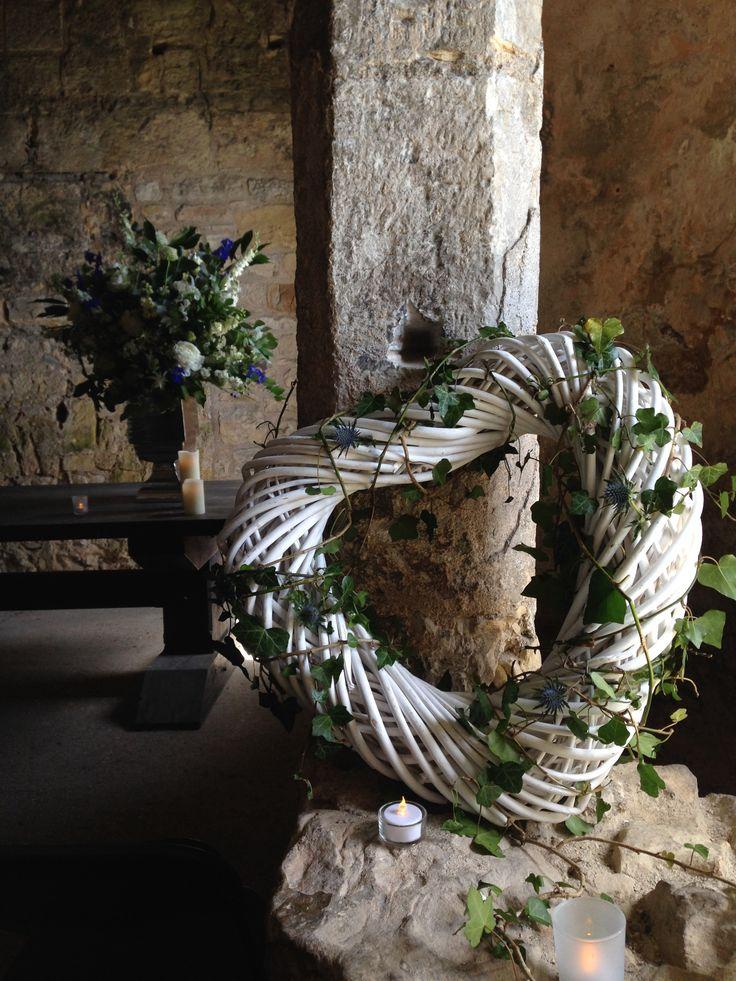 The Queensferry Flower Company. Inchcolm Abbey/Island wedding flower decorations.