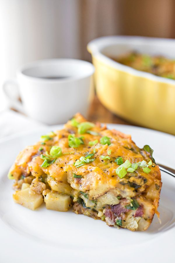 Cheesy Breakfast Bake, All The Best Things In One Dish