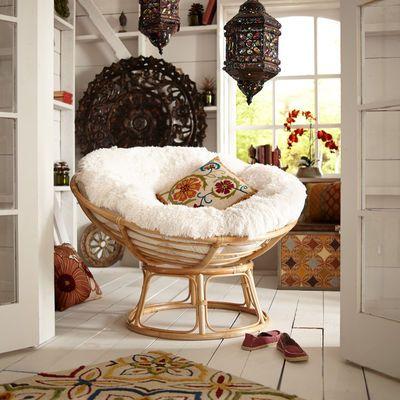 Papasan Cushion - Fuzzy Sand $65 <3 <3 <3 - for my craft room