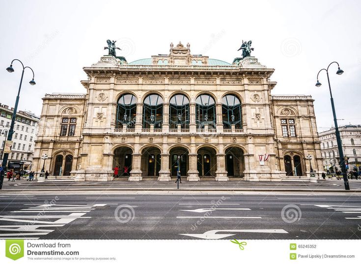 View Of Vienna State Opera House (Staatsoper) In Vienna, Austria ...