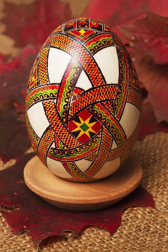 Painted Pysanka Easter egg.