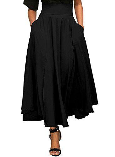 be9e386d4 Mujer Faldas Largas Fiesta Coctel Vintage Elegantes Cintura Alta ...