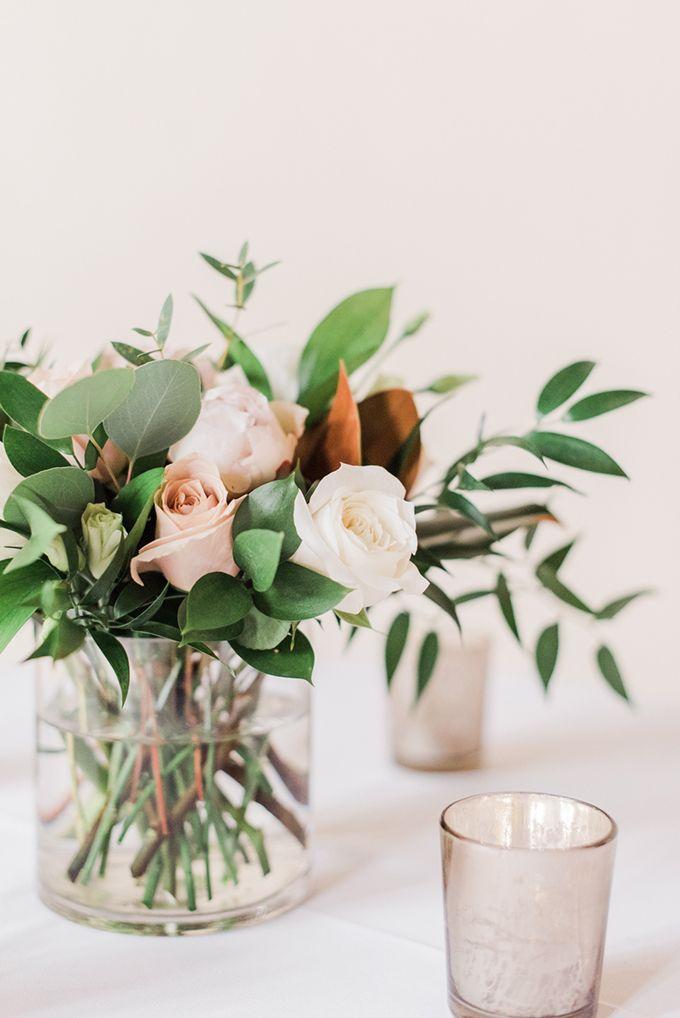 Elegant Magnolia Wedding Glamour Grace Magnolia Wedding Wedding Centerpieces Simple Wedding Centerpieces