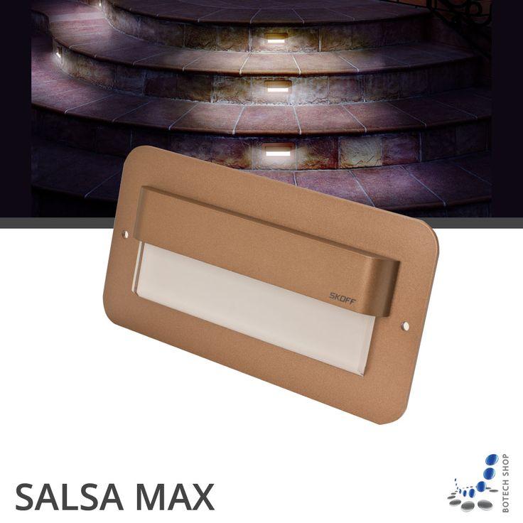 SALSA MAX Les avantages:  -construction solide  -consommation d'énergie très faible  -longue durée de vie – 50 000 h L'utilisation :  -pour éclairer des escaliers  -pour éclairer des couloirs  -pour décorer les murs  -pour éclairer des vitrines