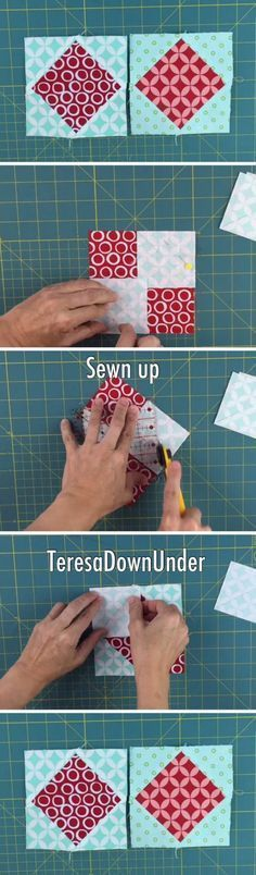 Quick and easy quilt square in a square video tutorial