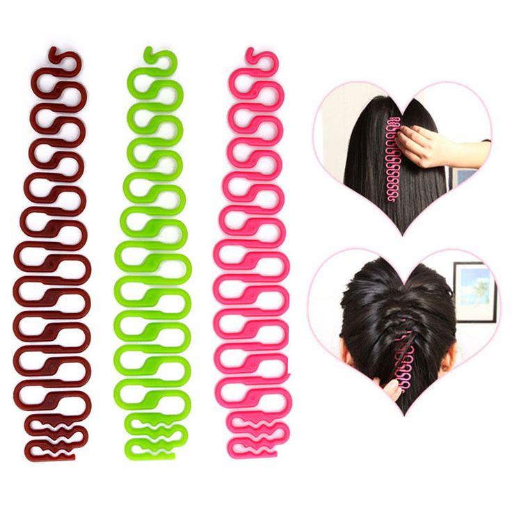 Fashion DIY Hair Styling Clip Stick Bun Maker Braid Tool Hair Accessories 2PCS #UnbrandedGeneric