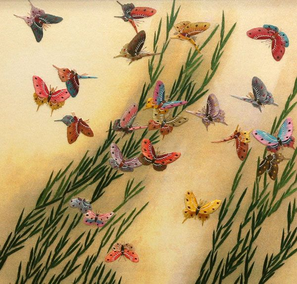 Butterflies Chinese Silk Embroidery | Embroidery | Pinterest | Chinese Silk And Embroidery
