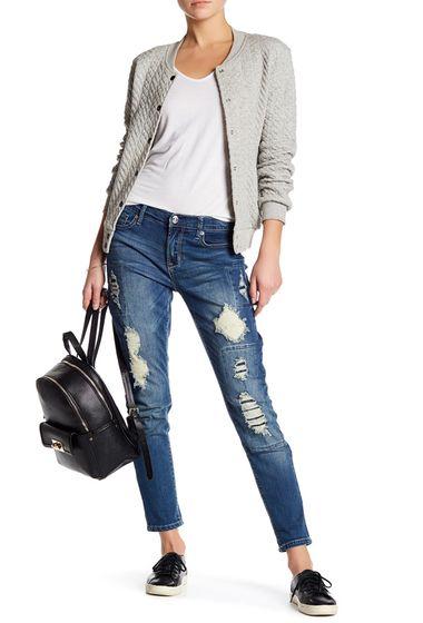 Promotie • Imbracaminte Femei Seven7 Rolled Girlfriend Jeans CONCORD