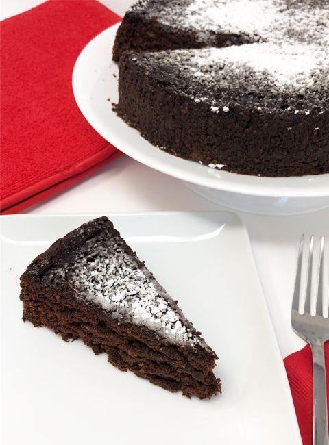 This cake takes all the awards, coming in at just 70 calories a slice you can indulge in a deeply rich fudgy dessert that the whole family will love.