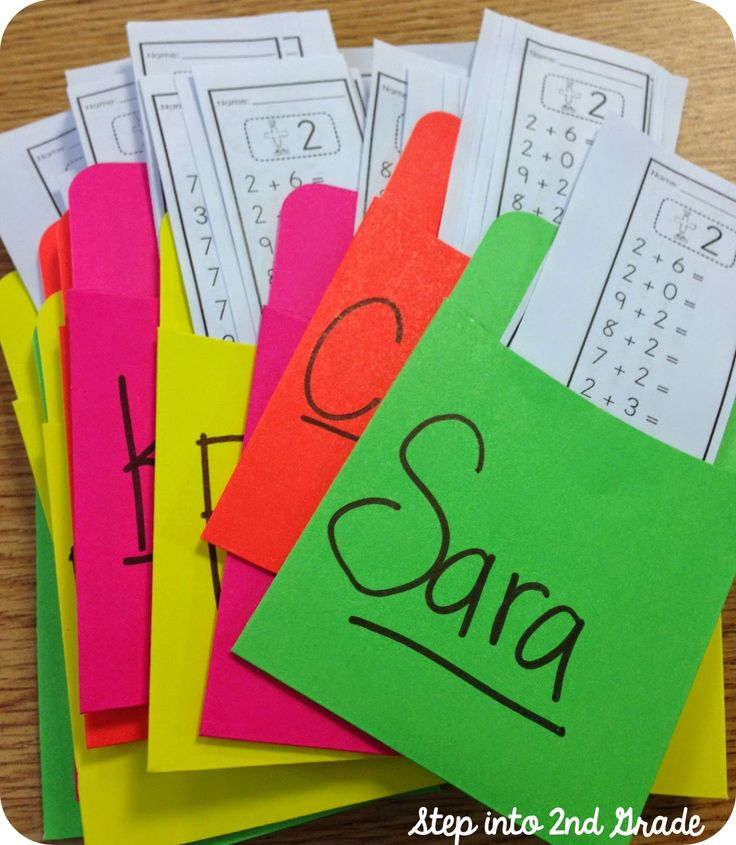 Great post about organizing math facts!