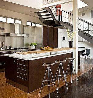 Las cocinas estilo americana son ideales para lofts y - Cocinas americanas para departamentos pequenos ...
