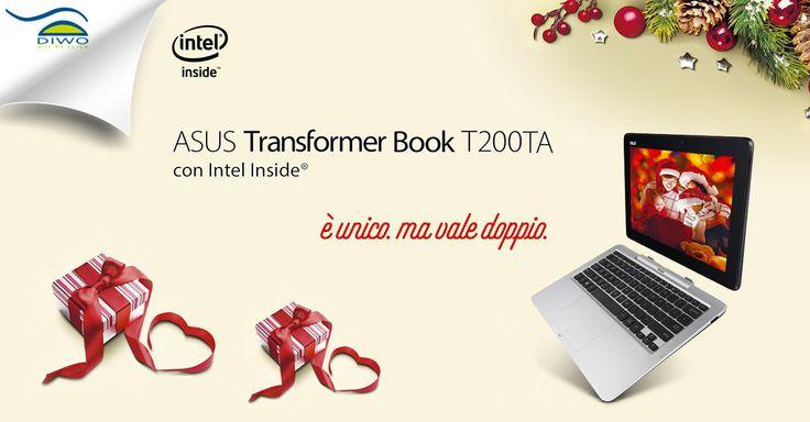 #Asus #TransformerBook #T200TA E' unico. Ma vale doppio!  #diwo #notebook #convertibile #tablet  Scoprilo su Diwo