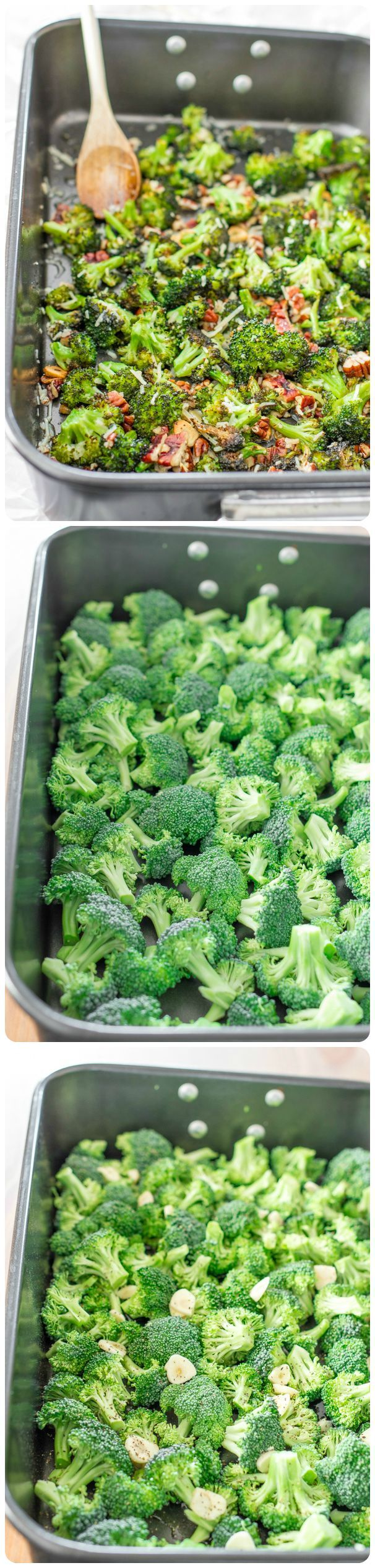 The Ultimate Parmesan Roasted Broccoli. It's nutty, it's cheesy, it's so yummy, yet it's a vegetable!