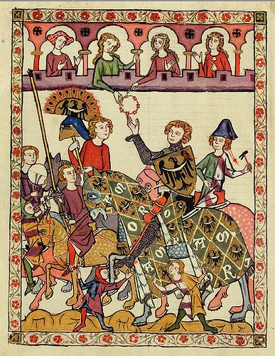 The Codex Manesse, is a Liederhandschrift (medieval songbook), the single most comprehensive source of Middle High German Minnesang poetry, written and illustrated between ca. Description from pinterest.com. I searched for this on bing.com/images