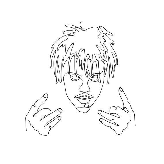 Juice Wrld Rapper Art Formal Cooler Ideas Line Illustration