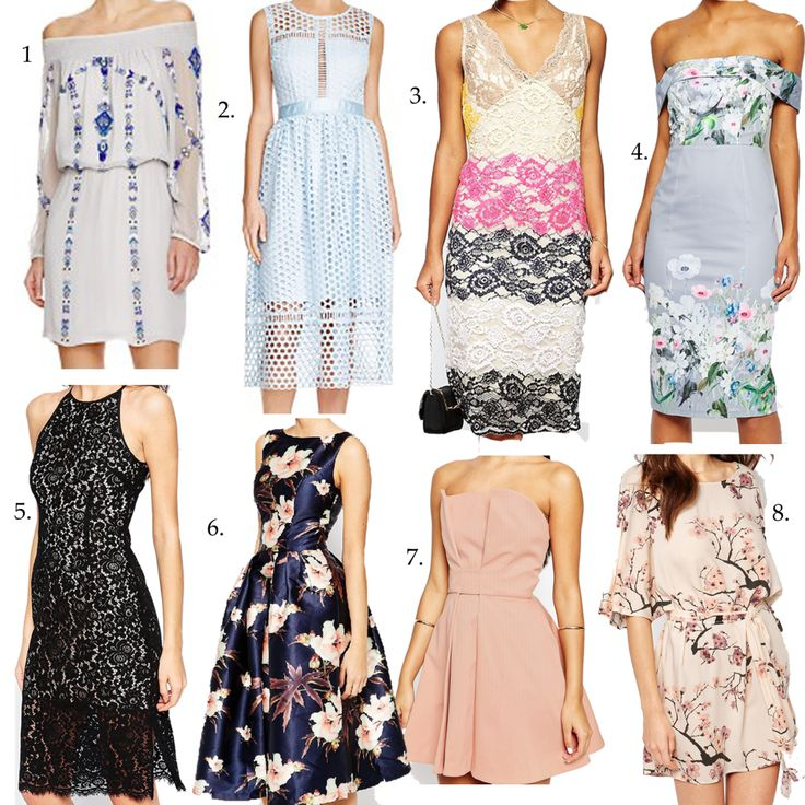 What to wear to a spring wedding and cute dress ideas by Peaches in a Pod