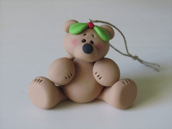 Hey, I found this really awesome Etsy listing at http://www.etsy.com/listing/158654082/polymer-clay-christmas-bear-ornament