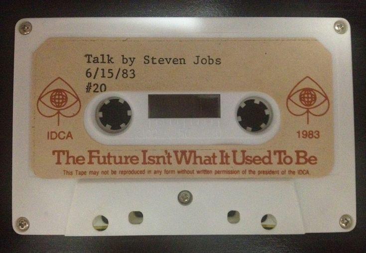 Talk by Steven Jobs Cassette: 1983 - International Design Conference in Aspen (IDCA)