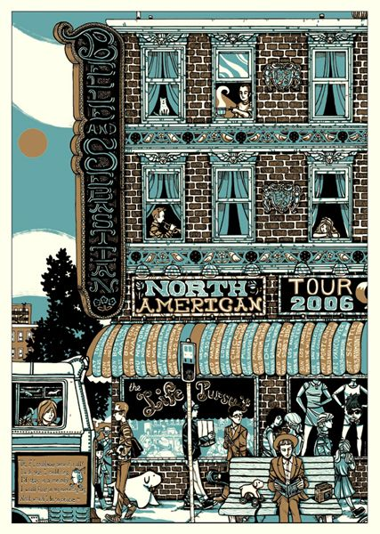 Belle and Sebastian poster by Manny Silva via Gig posters.