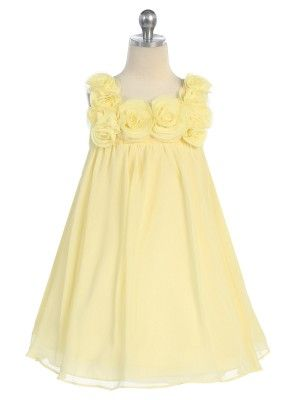 Love this for Brynn and Shea....Yellow Yoryu Chiffon Flower Girl Dress (Infants to Size 12)