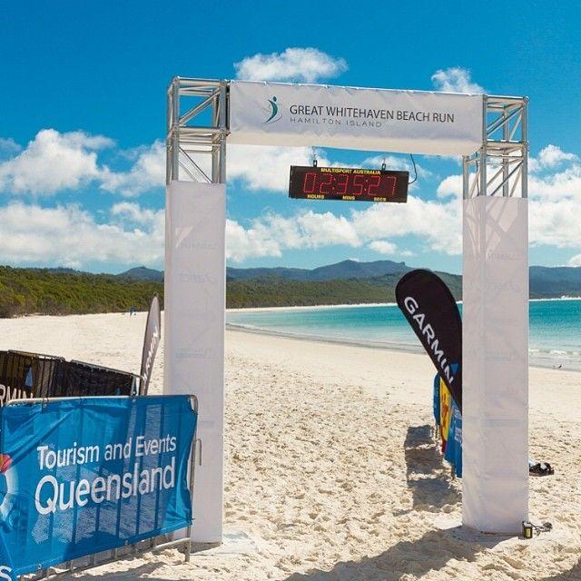 Nice image from Melanie Smith of the most idyllic half marathon course ever, Whitehaven Beach #hamiltonisland #whitehaven #marathon #teq #queensland #paradise #powerbar #garmin #beach #running #seeaustralia