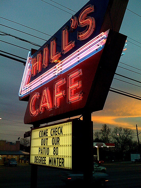 """Hill's Cafe, Austin, Tx. A constant for most of my life (and probably responsible for at least a smidge of my """"voluptuous"""" figure""""!"""