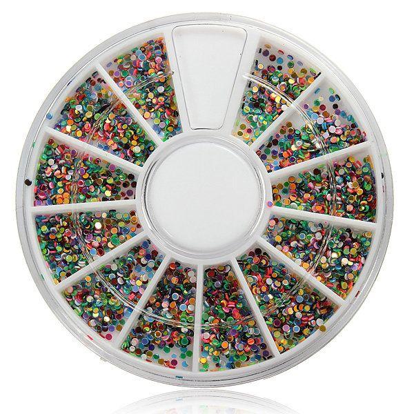 Chiodo lucido arte decorazione scintillio strass perline ruota - US$1.92 - Banggood mobile