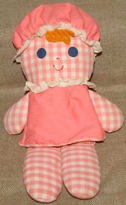 Vintage Fisher Price Pink Lolly Dolly Rattle Doll 1975- Arissa called her Molly.