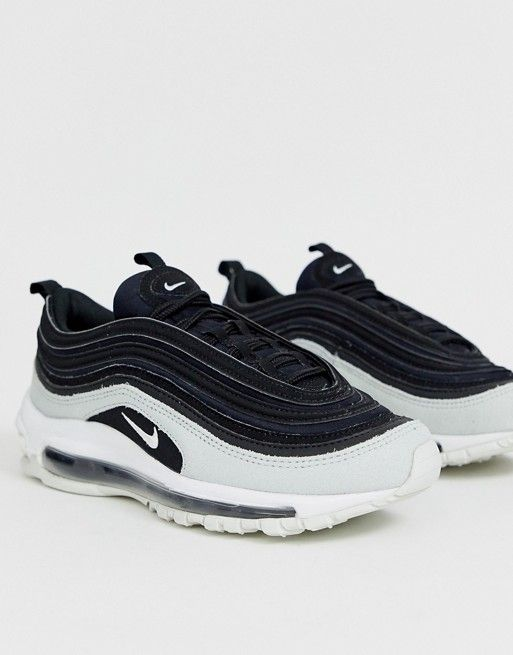 a2ed9cb3bfea Nike Air Max 97 Premium trainers in black cracked leather in 2019 ...