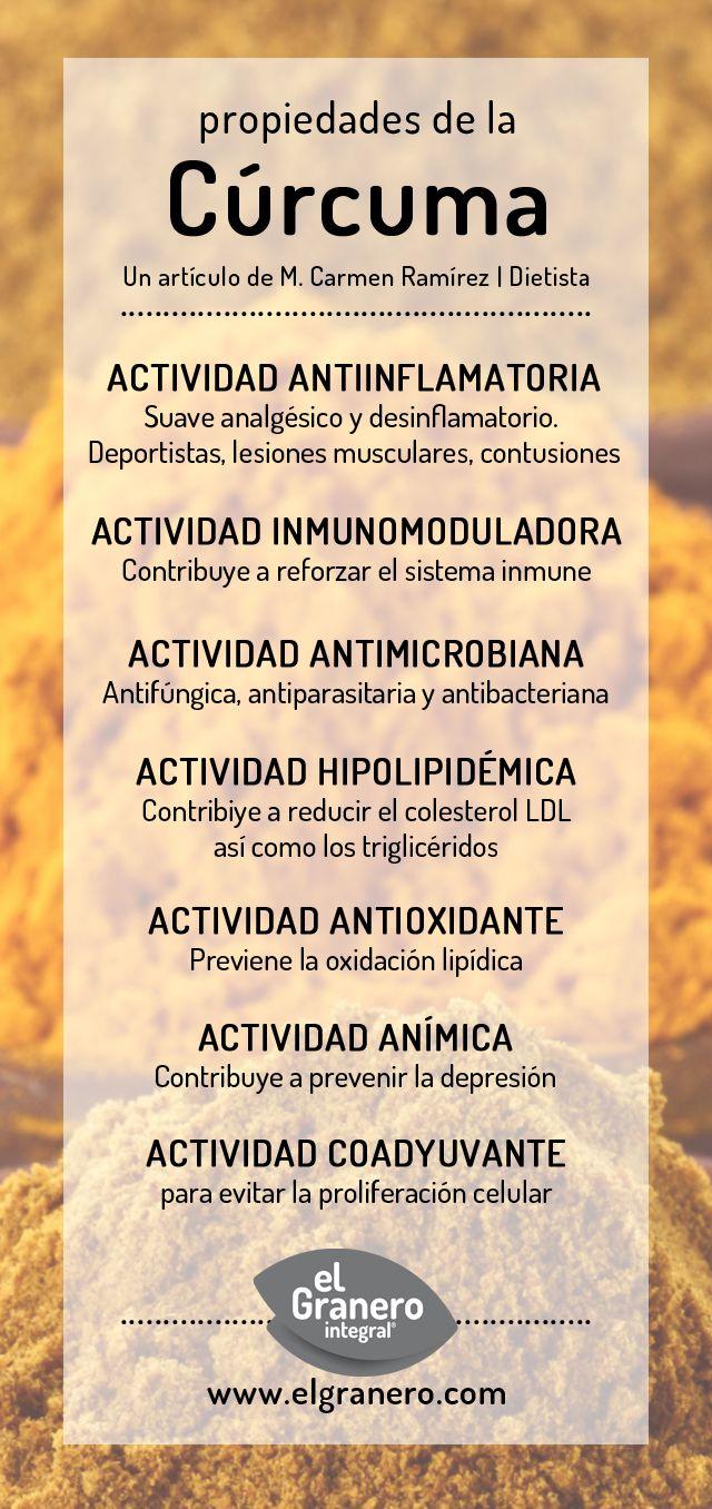Propiedades de la Cúrcuma y sus Beneficios | El Granero Integral