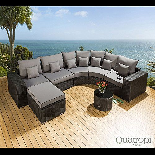 SPECIFICATIONS Colour: Brushed Black coloured Rattan with Gray Cushion Covers…
