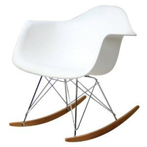 Molded Plastic Rocking Chair in White $99 (on sale. it's ridiculous to buy it now, right?)