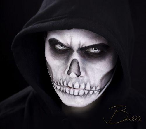Dark skull makeup by @makeupgeekdelux . www.Billbo.no