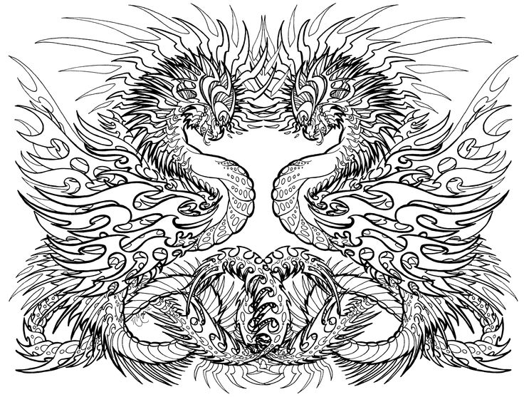 17 best images about coloring pages dragons on pinterest for Sunset coloring pages for adults