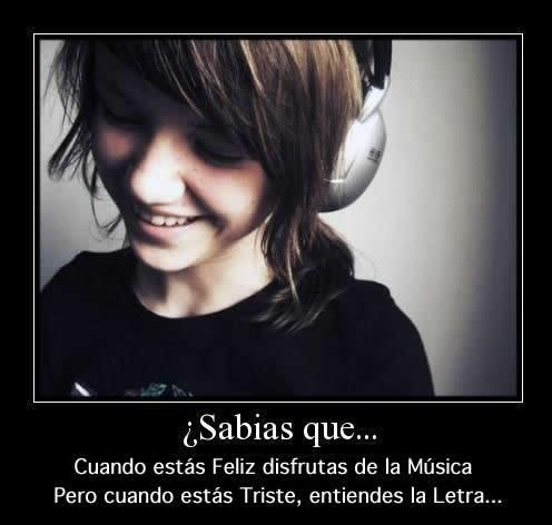 Did you know? When you're happy you enjoy the music but when you're sad you understand the lyrics.