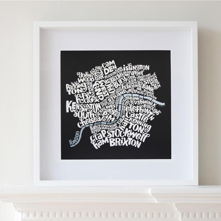 London typo map 30 best Typo Map