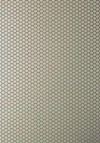 Nevio #wallpaper in #pewter on #charcoal from the Geometric Resource 2 collection. #Thibaut