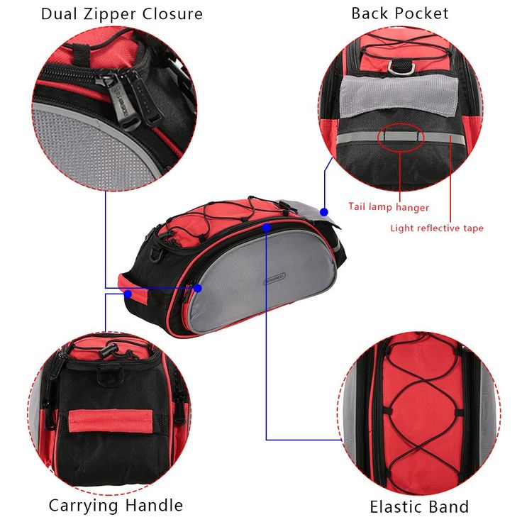 red ROSWHEEL 13L Multifunctional Bicycle - Tomtop.com