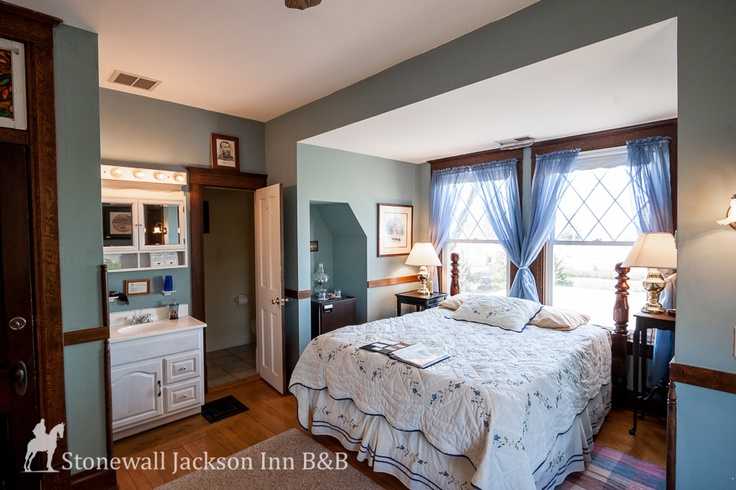 Stay at a bed & breakfast! The Philip Sheridan Room @ The Stonewall Jackson Inn (second floor, queen bed)  $159 //  Cozy decor feels just like home. Experience a better way to stay in Virginia's Shenandoah Valley!