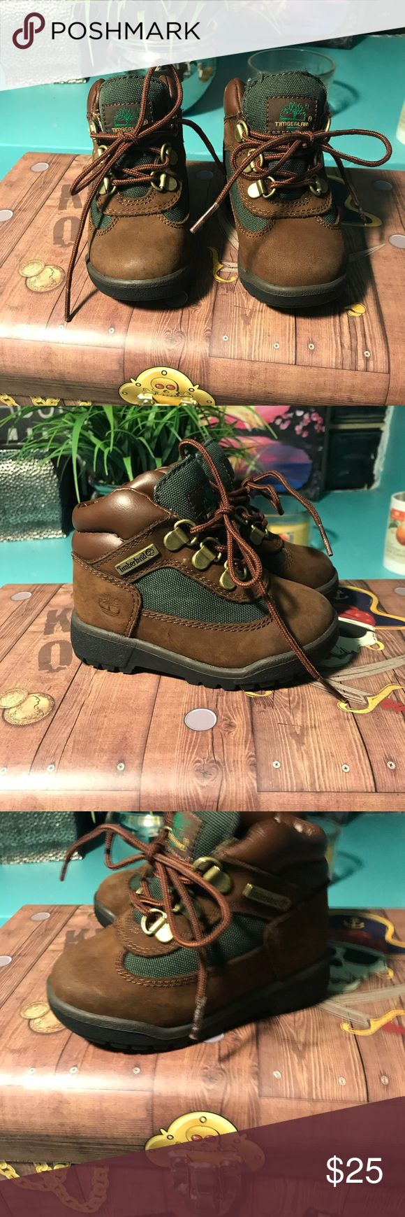 Toddler Boys Timberland boots Toddler boys size 6.5 green and brown chucker style boot mint condition! Timberland Shoes Boots