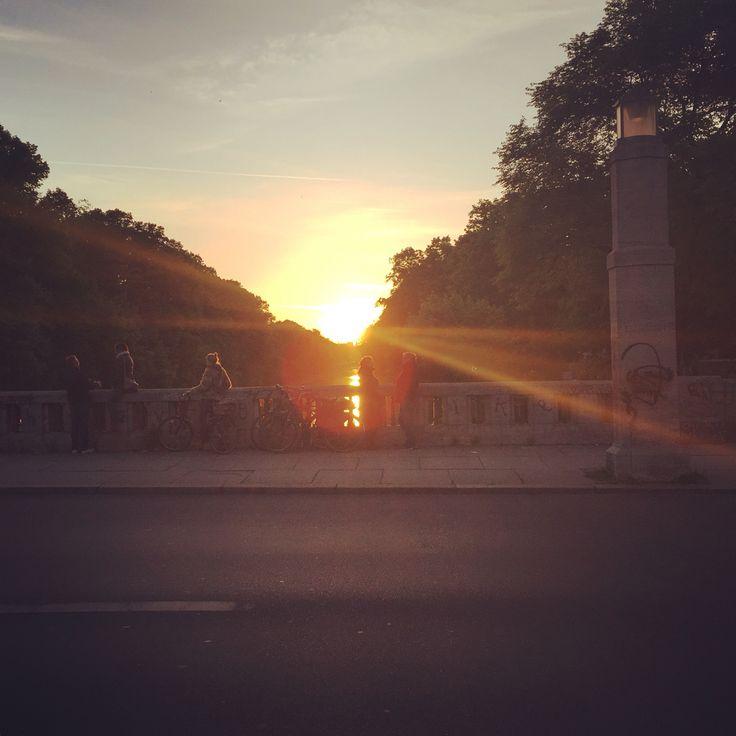 Sunset @ Landwehrkanal #Kreuzberg