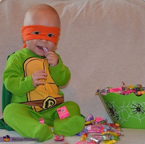 Infant Mutant Ninja Turtle Costume - Halloween Costume Contest