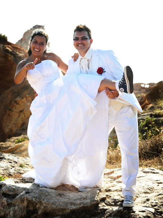 Wedding Dresses With Converse Wore Under Her Dress How Cool Algarve