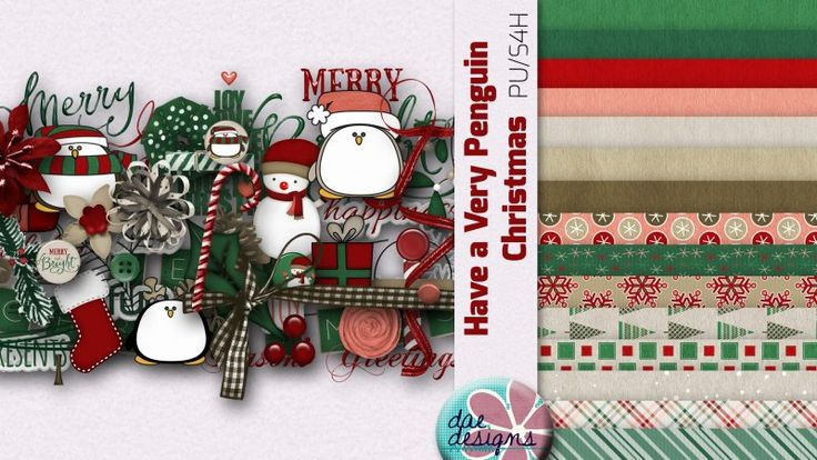 Have a Very Penguin Christmas by Dae Designs