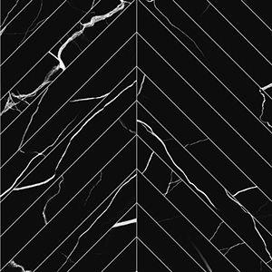 Chevron   3x24 inch, Contemporary Tile     Marmo Nero