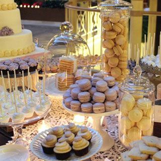 Lavender and Gold Dessert Table by Cocoa & Fig