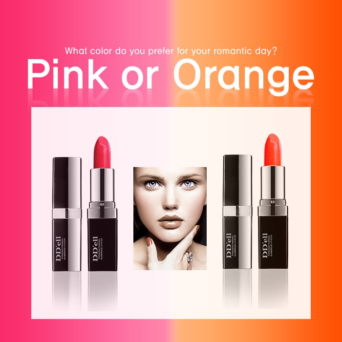Pink? Orange?  For your lovely and sweet romantic day, what's your choice?