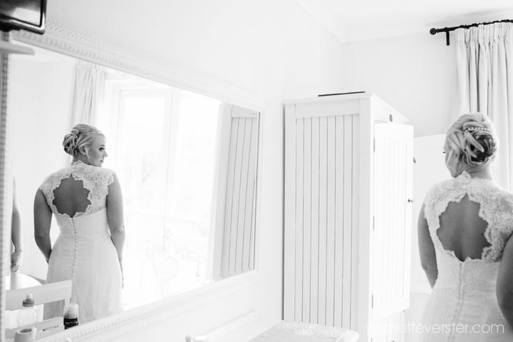 #GingerGooseWedding - divine Chantilly lace dress by Marietjie Oelofse Couture