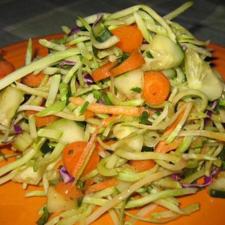 Munchy Crunchy Asian Broccoli Slaw | Healthier Eats ...