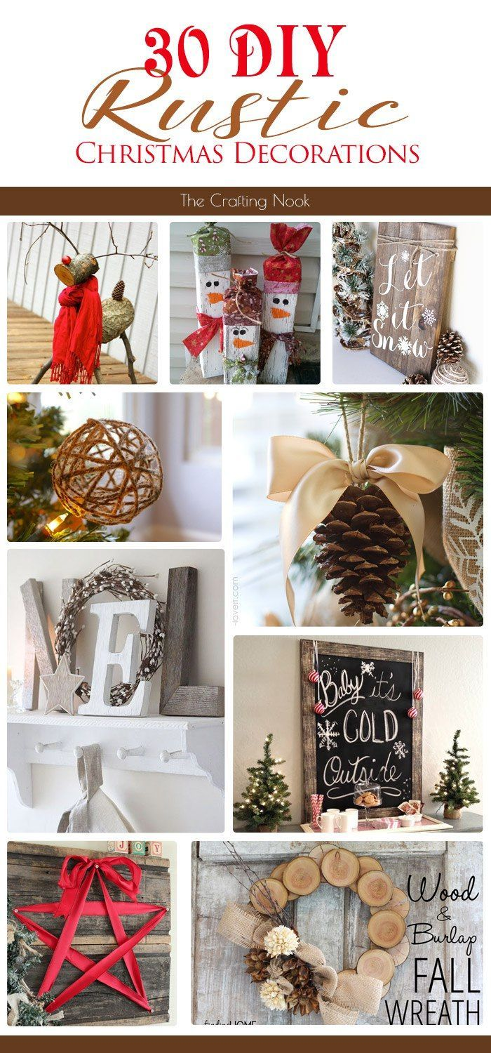 Rustic christmas decorations - 30 Diy Rustic Christmas Decorations